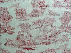 Len dekoracyjny Scenki rodzajowe k.64/5