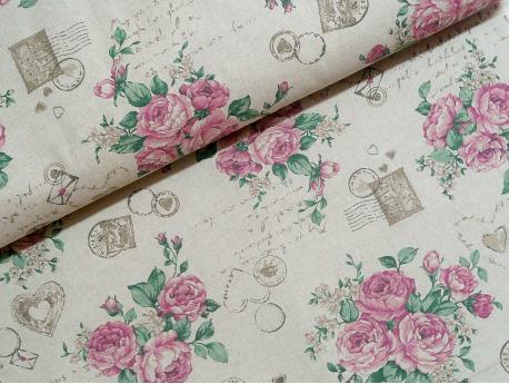 Tkanina bawełniana Róże k.95/39