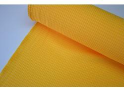 Tkanina dekoracyjna Poliester Żółta kratka