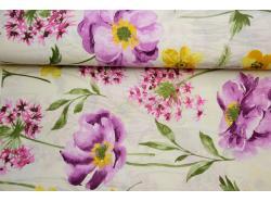 Tkanina Bawełniana  Malowane Kwiaty