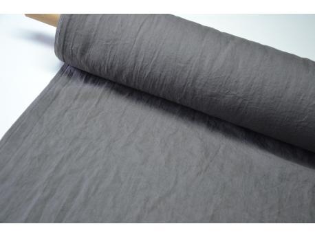 Len odzieżowy/pościelowy Szer.160 cm Smoke Grey