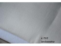 Len / Bawełna Obiciowa dekoracyjna 3/4 Bielo k.70/5