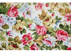 Len / Bawełna dekoracyjna Angielskie Róże