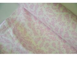 Bawełna Etamina szer 280 Różowe kwiatki k.20