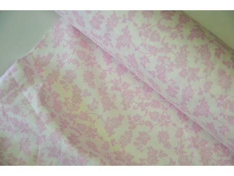 Bawełna Etamina szer 280 cm Różowe kwiatki k.20