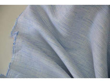 Len / Bawełna Pościelowa / odzież. Paseczek Błękit