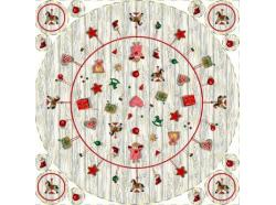 Obrus Gobelinowy Okrągły Świąteczne dekoracje