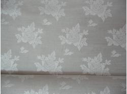Len żakardowy Róża k.97/10 k.97