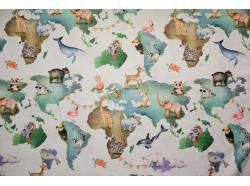 Tkanina dekoracyjna Zwierzątka Świata