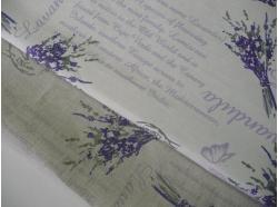 Tkanina LEN 100% dekoracyjna LAWENDA k.82