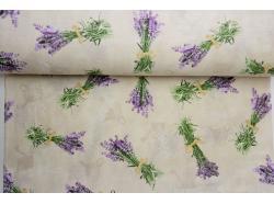 Bawełna dekoracyjna Bukieciki Lawendy