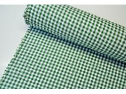Bawełniana drobna krateczka Biało/Zielona