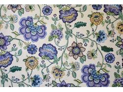 Tkanina Żakardowa Kwiaty Desiquel Blue