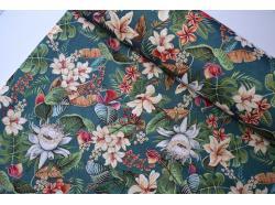 Tkanina Żakardowa Kwiaty Lotosu