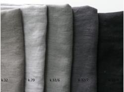 Len odzieżowy Szary KAMIEŃ k.32/6 gr 170