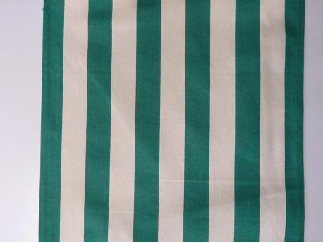 Tkanina leżakowa  Pasy biało/zielone