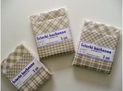 Ścierki Lniane kuchenne  - Komplet 3 szt