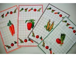 Ścierki Lniane kuchenne  - Warzywa