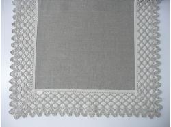Bieżnik Lniany z koronką 45 x 140
