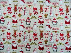 Tkanina bawełniana  Merry Christmas k.95/33