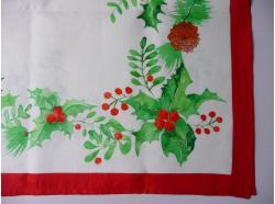 Obrus Lniany  Święta 180 x 140
