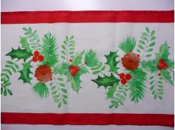Bieżnik Lniany Święta     40 x 150